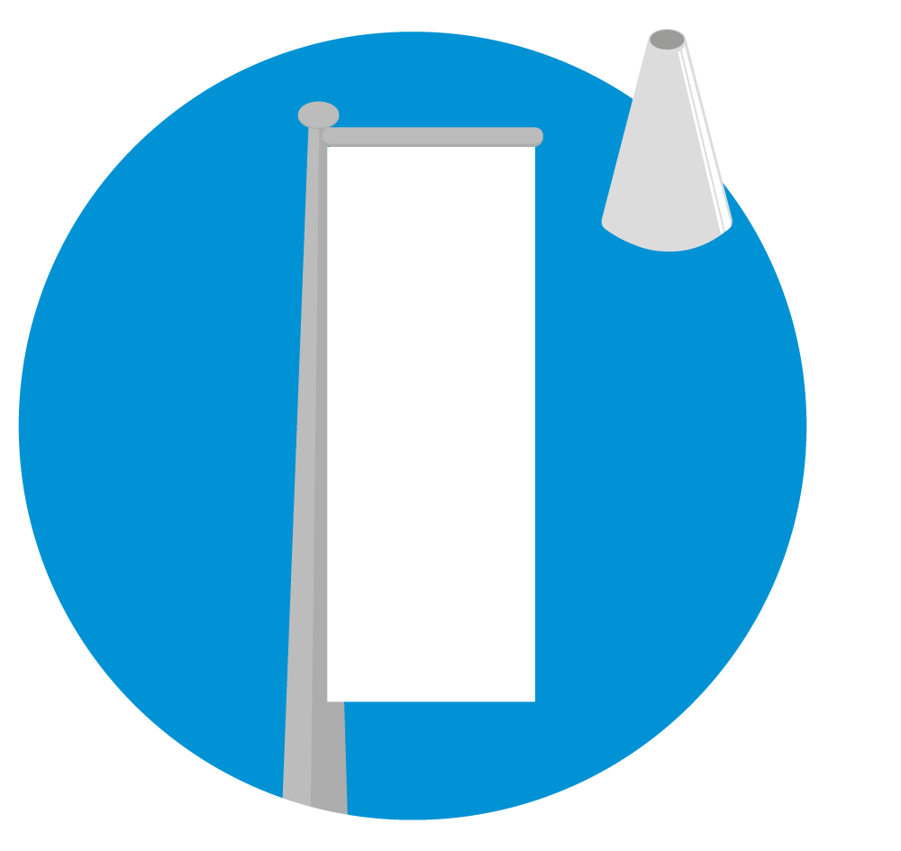 Baniermast - Conisch