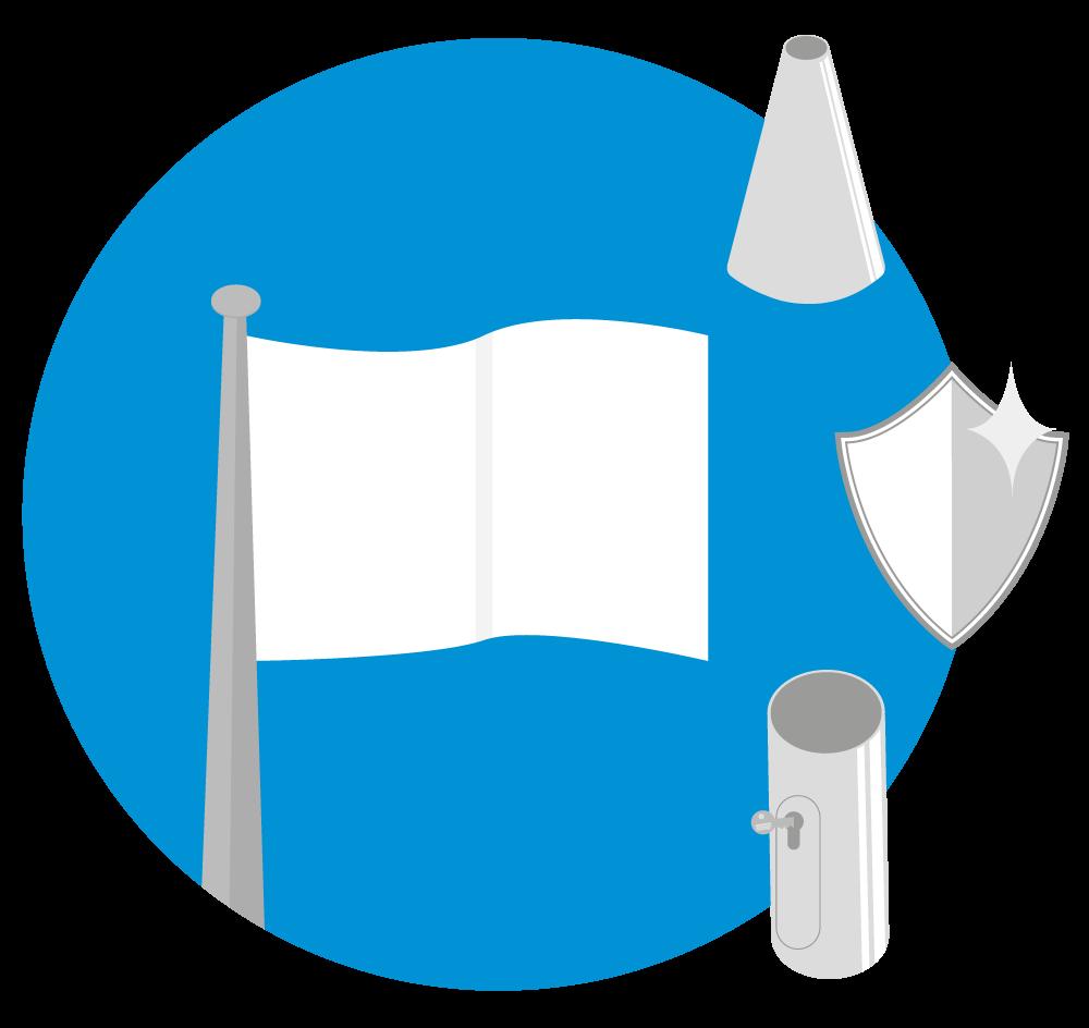 Standaard vlaggenmast - Conisch - Antidiefstal